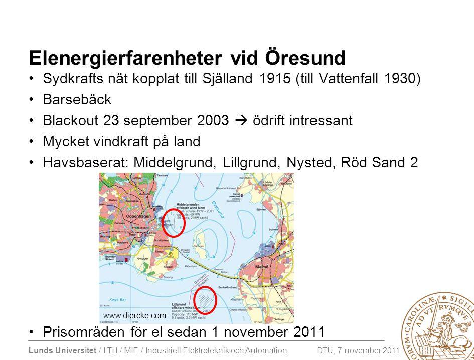 Elenergierfarenheter vid Öresund