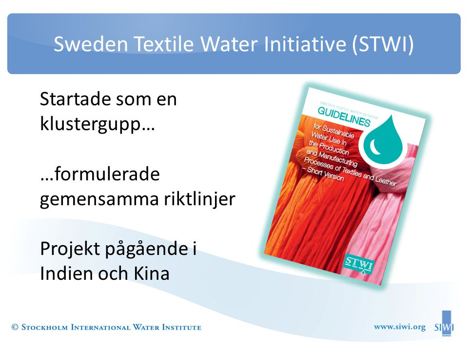 Sweden Textile Water Initiative (STWI)
