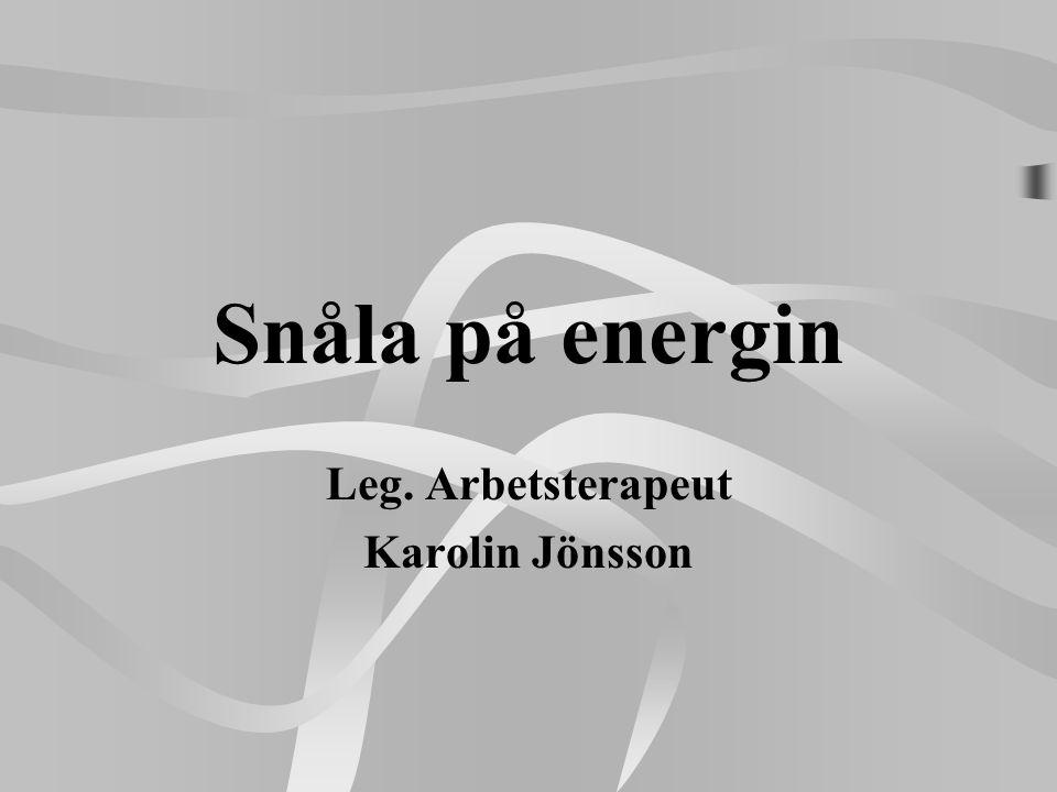 Leg. Arbetsterapeut Karolin Jönsson