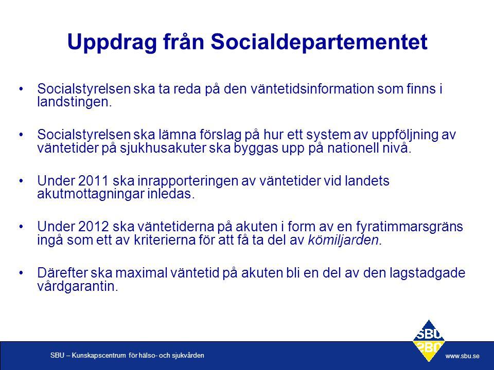 Uppdrag från Socialdepartementet
