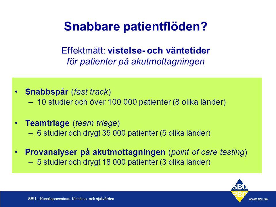 Snabbare patientflöden