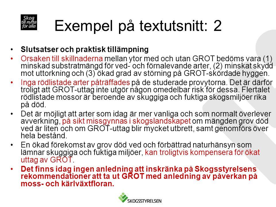 Exempel på textutsnitt: 2