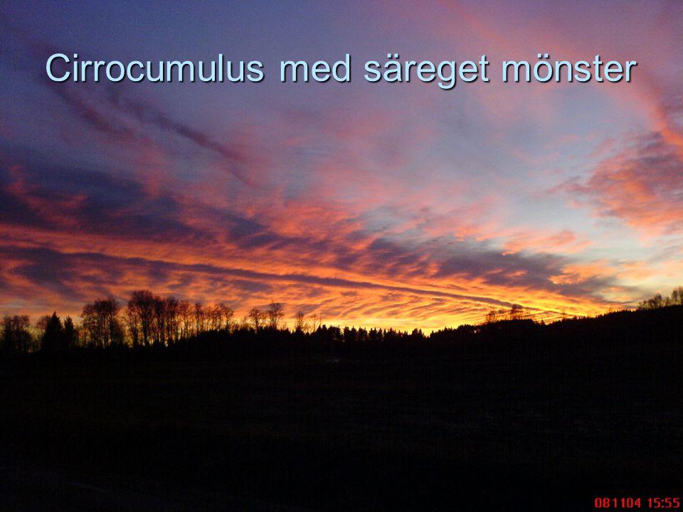 Cirrocumulus med säreget mönster