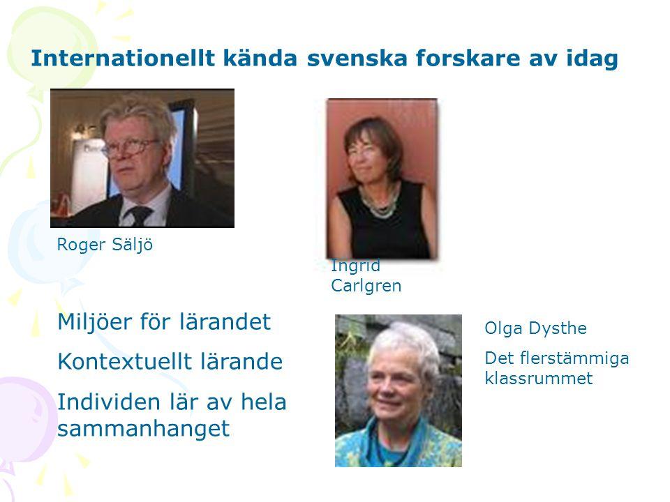 Internationellt kända svenska forskare av idag