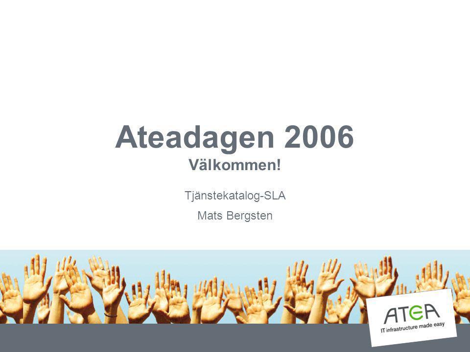 Tjänstekatalog-SLA Mats Bergsten