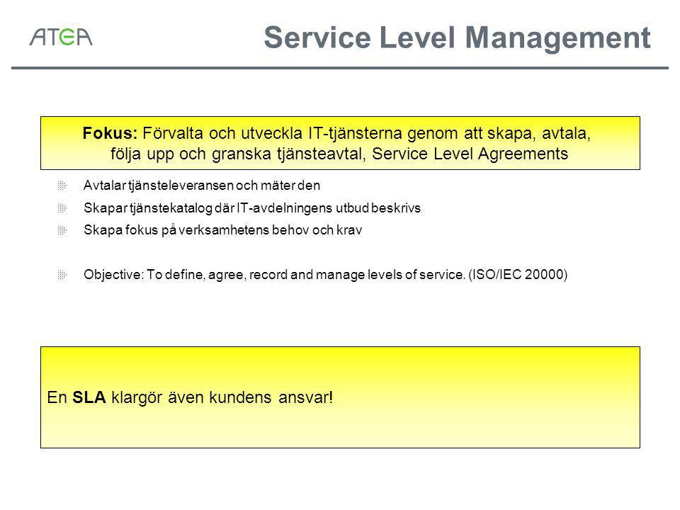 Service Level Management