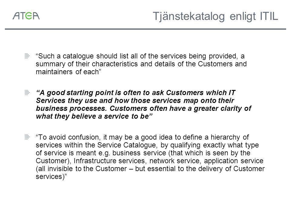 Tjänstekatalog enligt ITIL