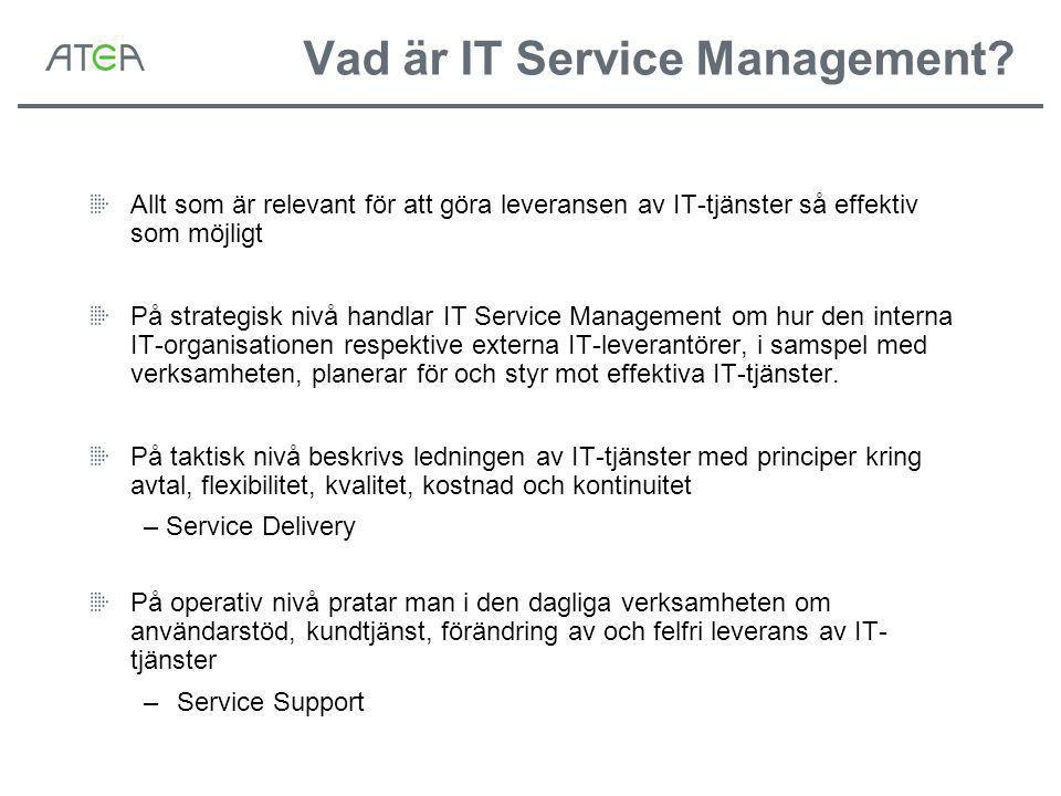 Vad är IT Service Management