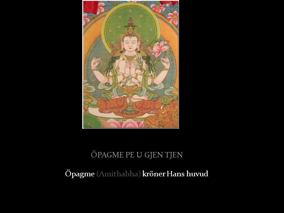 ÖPAGME PE U GJEN TJEN Öpagme (Amithabha) kröner Hans huvud