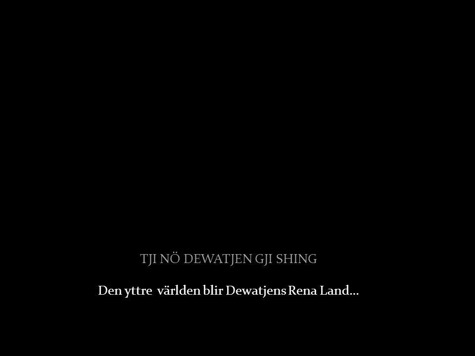 TJI NÖ DEWATJEN GJI SHING Den yttre världen blir Dewatjens Rena Land…