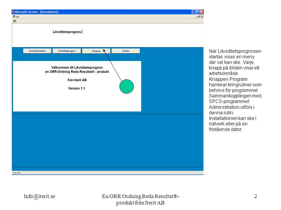 En ORR Ordning Reda Resultat®-produkt från Iterit AB