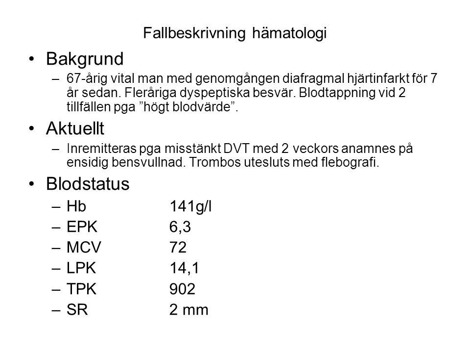 Fallbeskrivning hämatologi