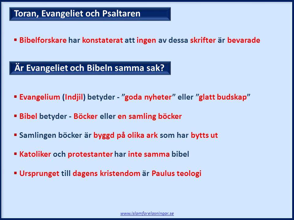 Toran, Evangeliet och Psaltaren