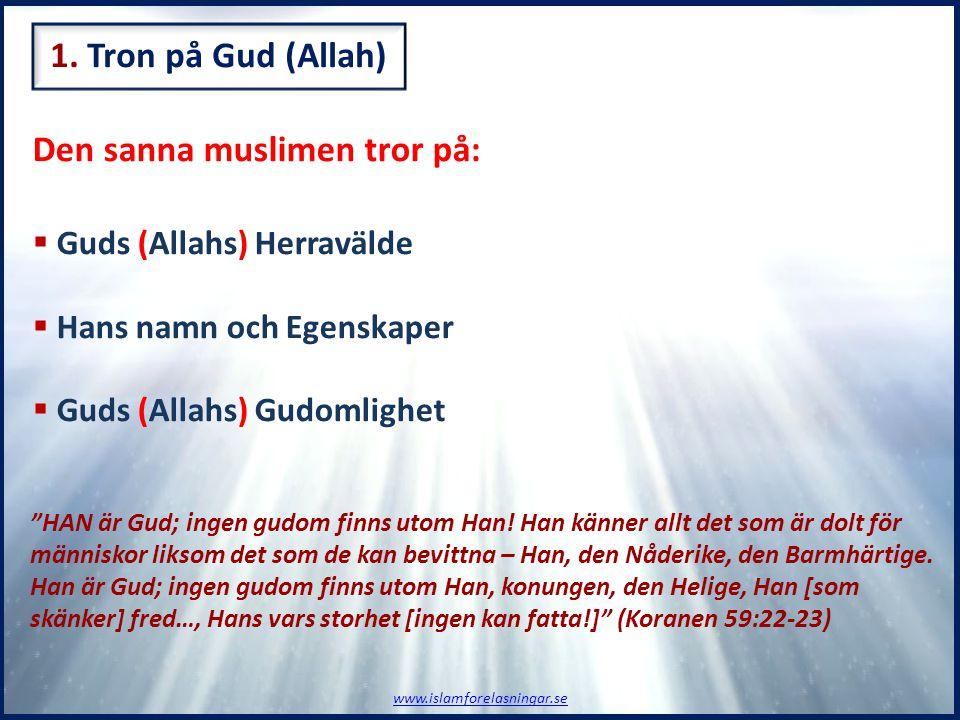 Den sanna muslimen tror på: