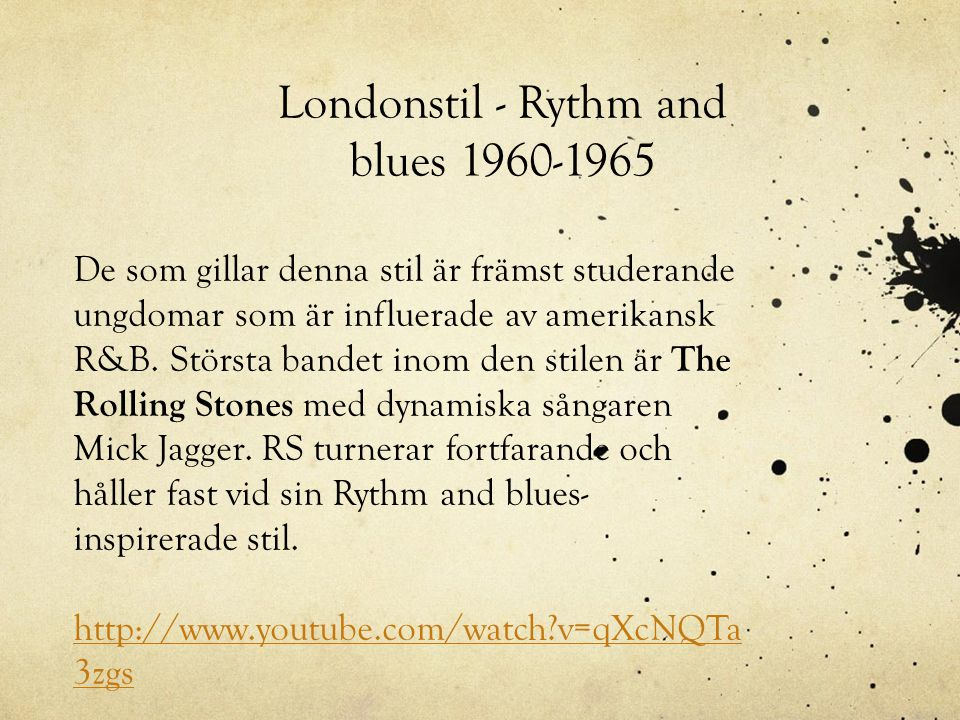 Londonstil - Rythm and blues 1960-1965