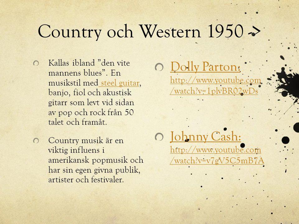 Country och Western 1950 ->