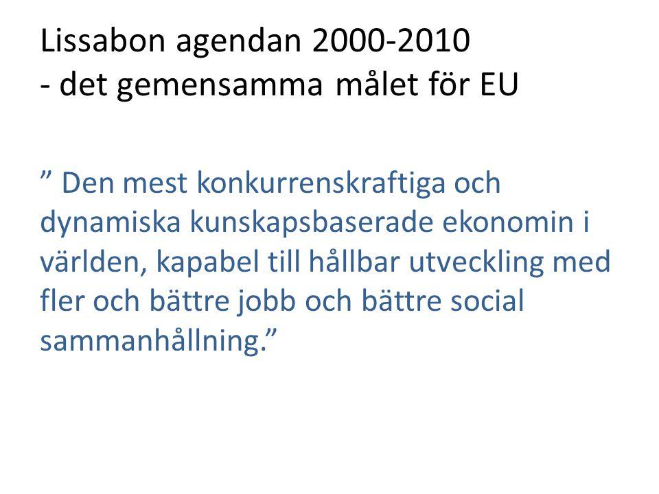 Lissabon agendan 2000-2010 - det gemensamma målet för EU