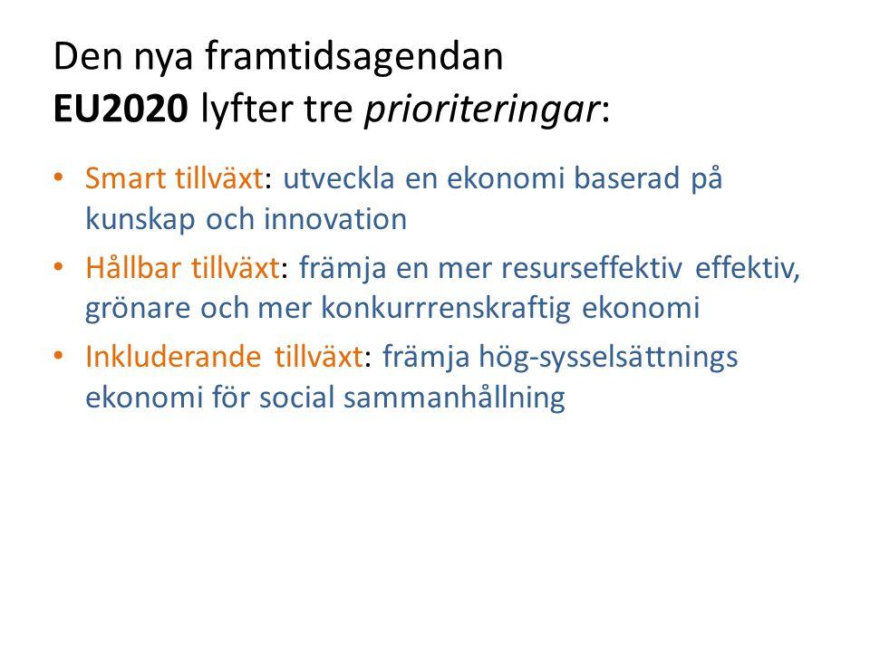 Den nya framtidsagendan EU2020 lyfter tre prioriteringar: