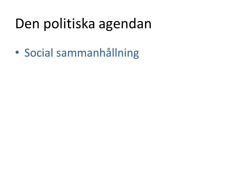 Den politiska agendan Social sammanhållning