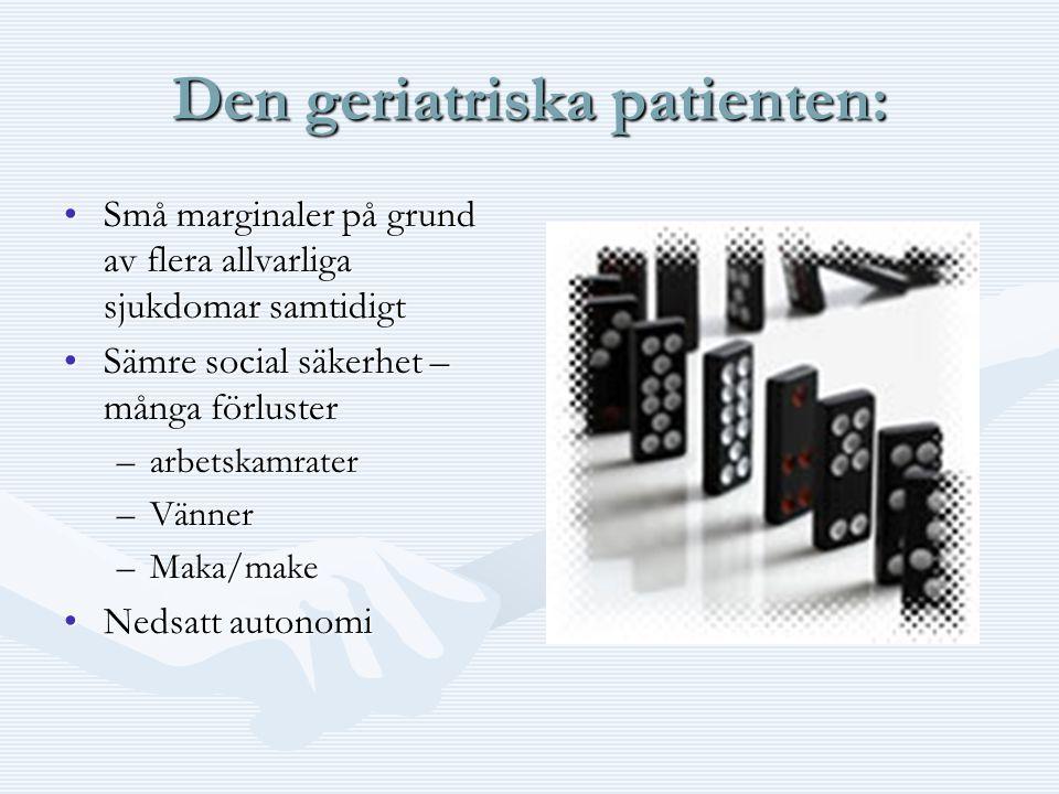 Den geriatriska patienten: