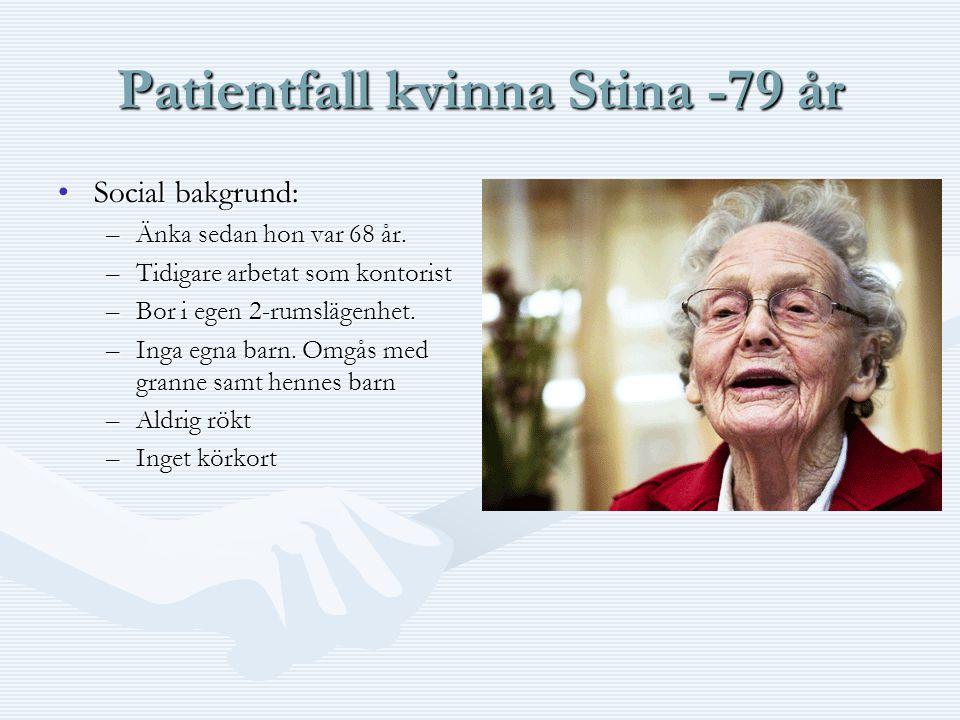 Patientfall kvinna Stina -79 år