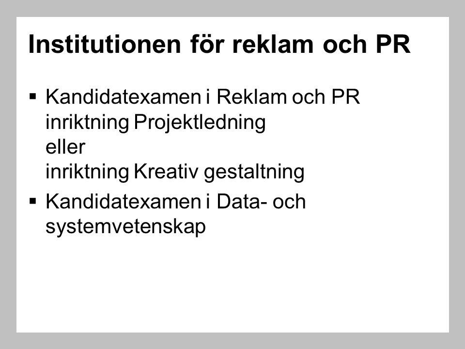 Institutionen för reklam och PR