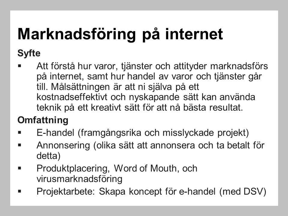 Marknadsföring på internet