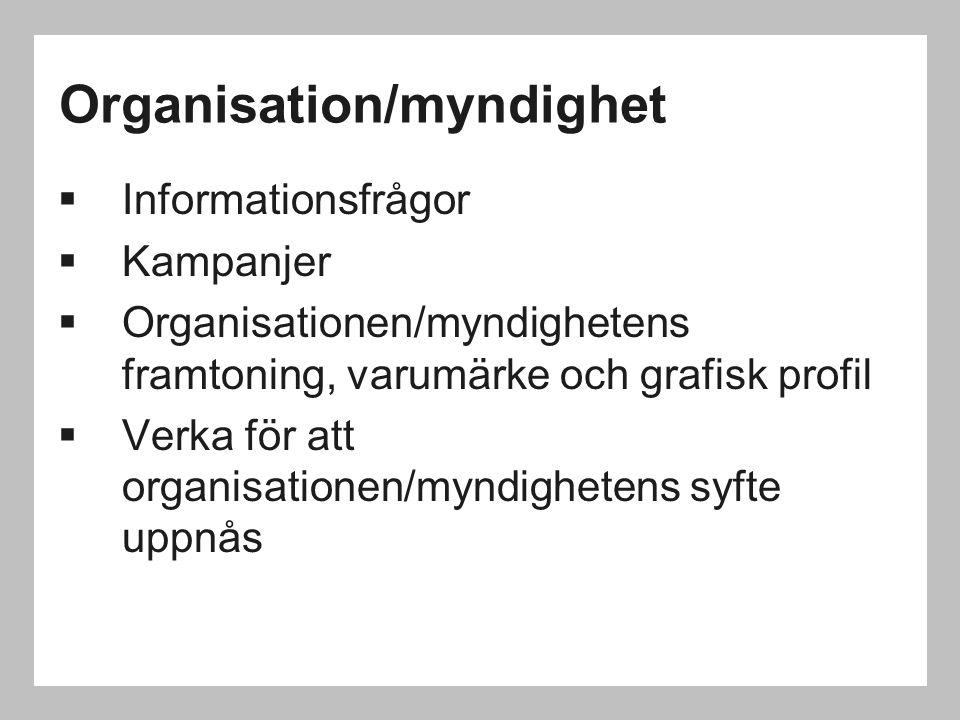 Organisation/myndighet