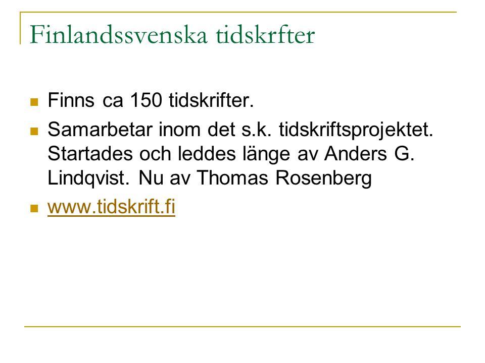Finlandssvenska tidskrfter