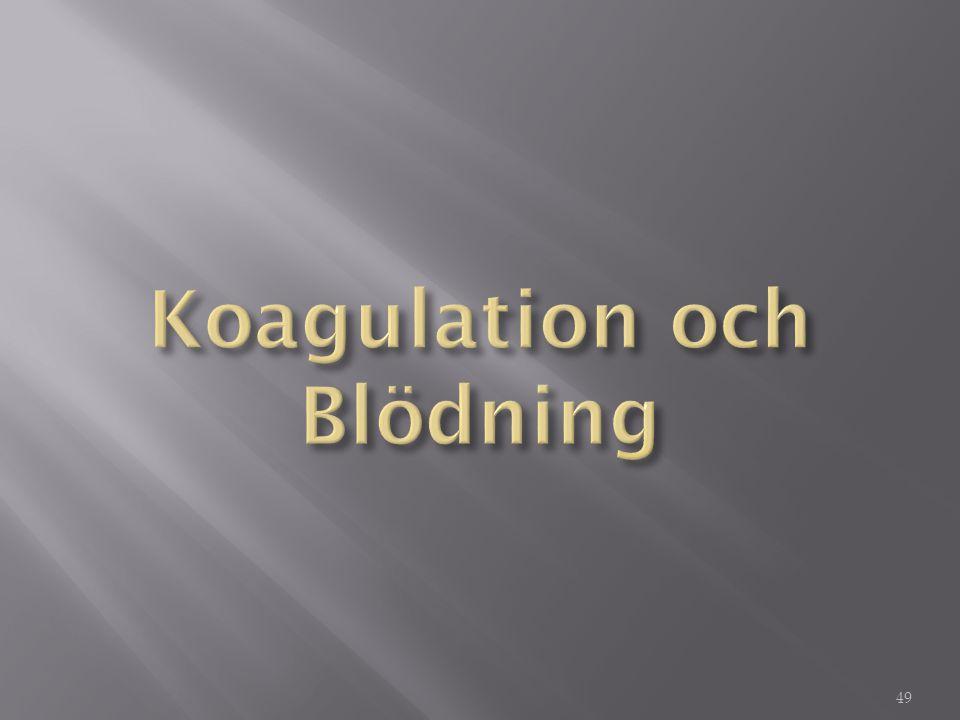 Koagulation och Blödning