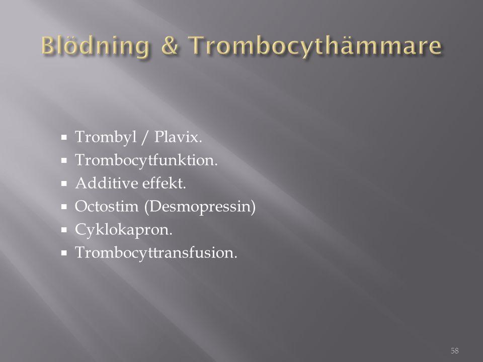 Blödning & Trombocythämmare