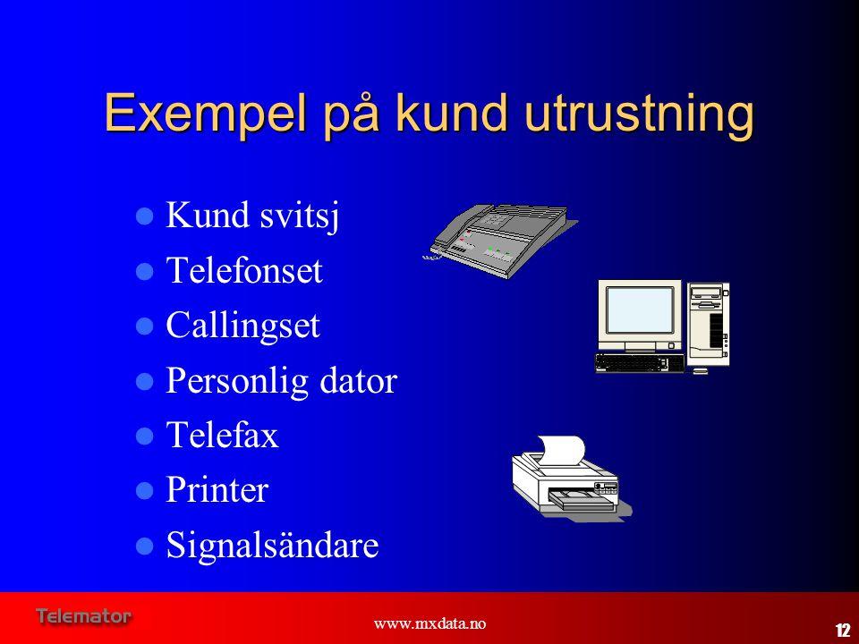 Exempel på kund utrustning