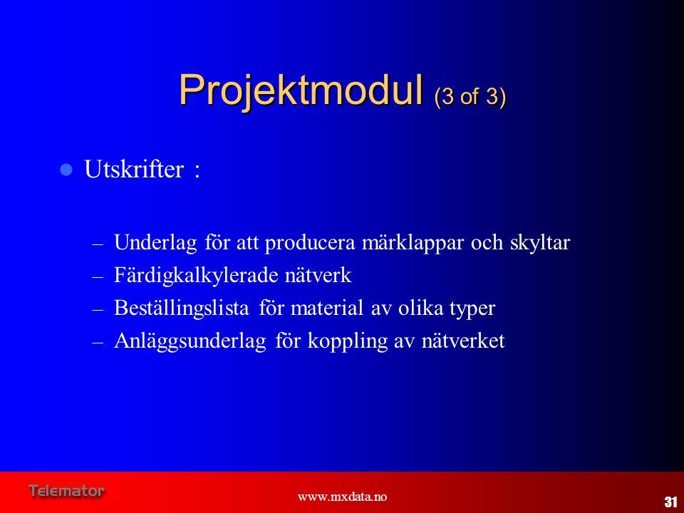 Projektmodul (3 of 3) Utskrifter :