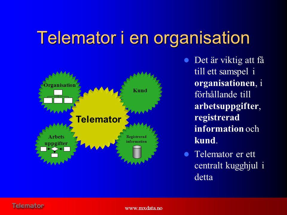 Telemator i en organisation