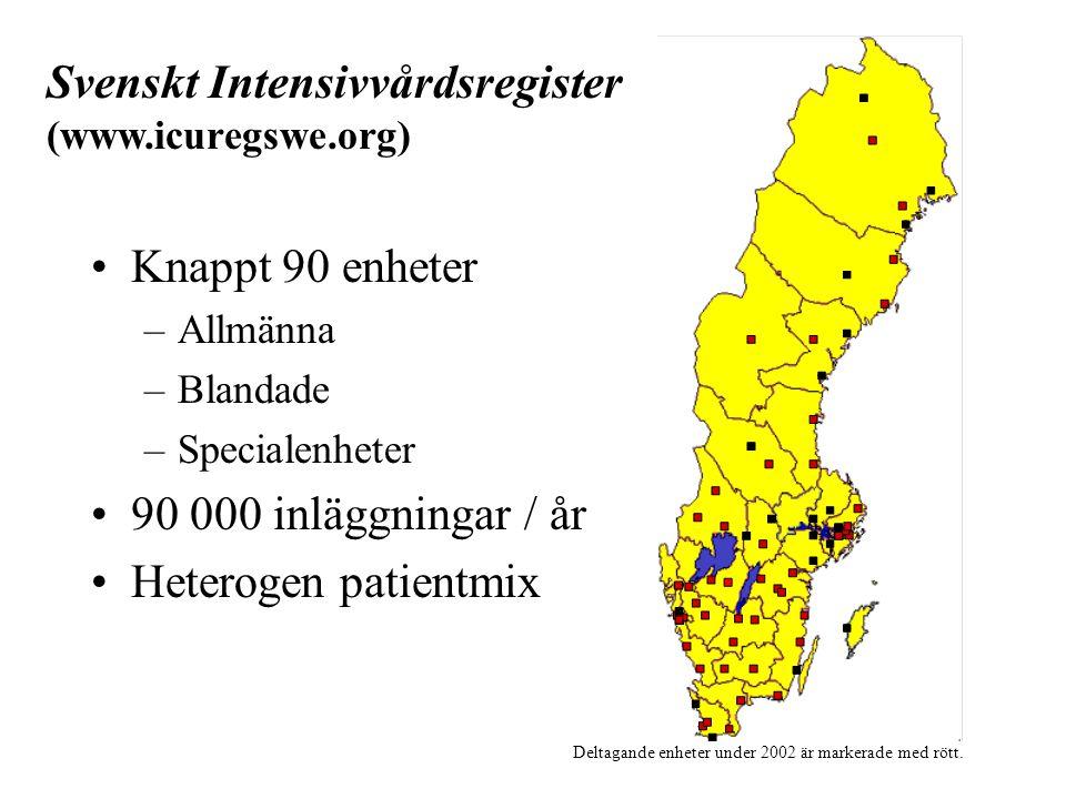 Deltagande enheter under 2002 är markerade med rött.