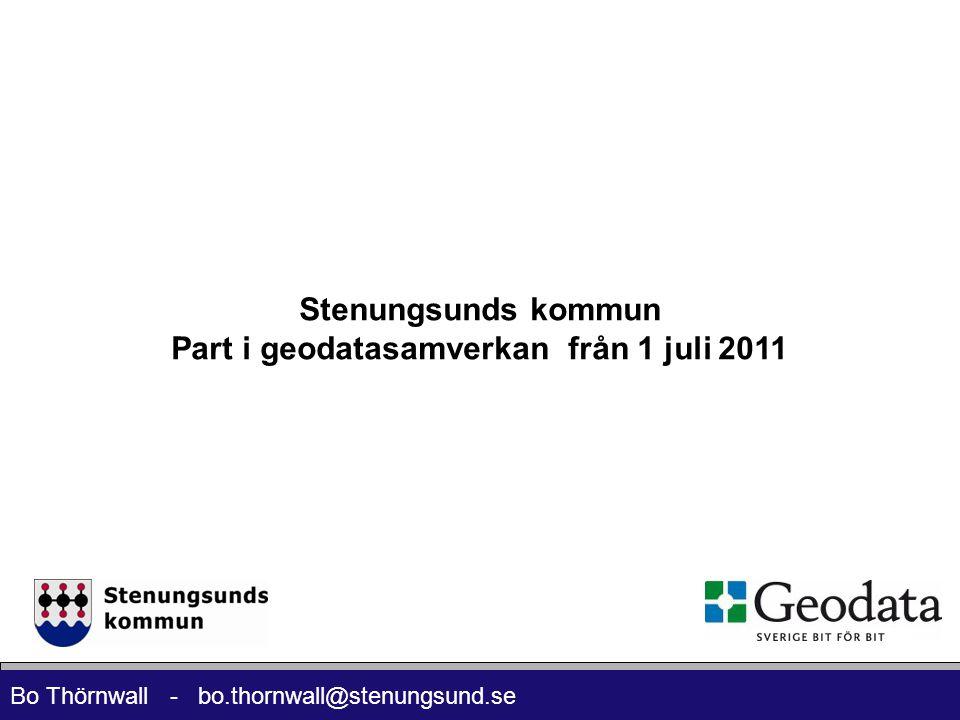 Part i geodatasamverkan från 1 juli 2011