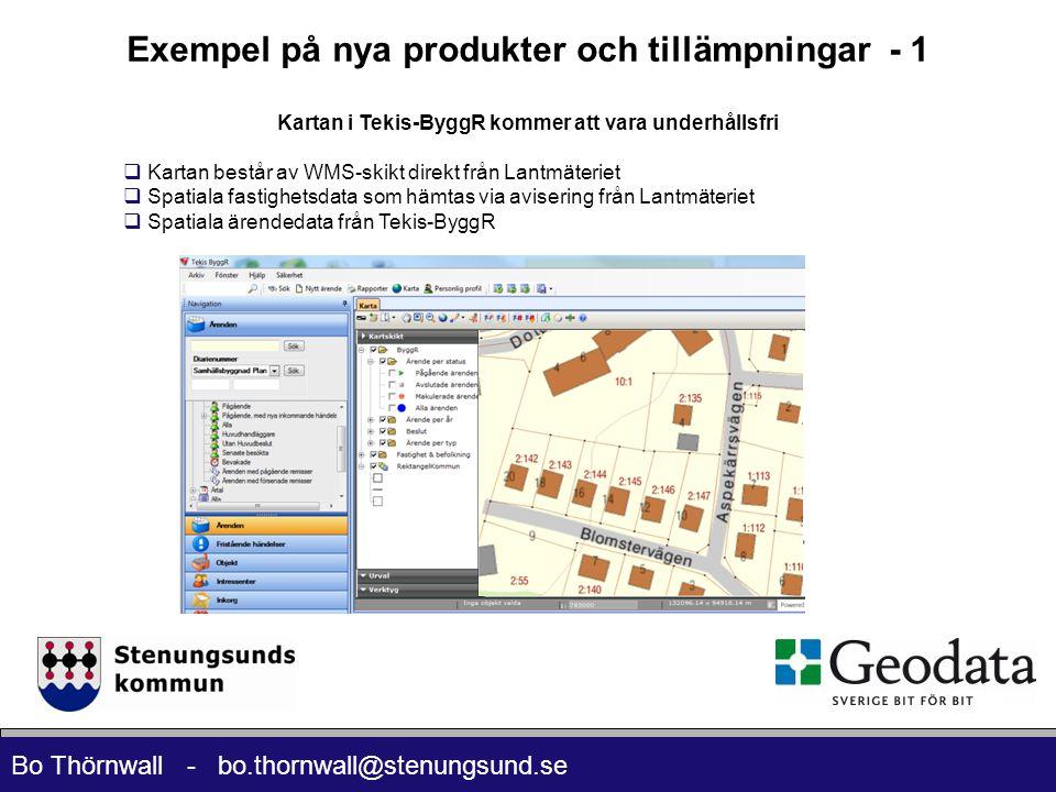 Exempel på nya produkter och tillämpningar - 1