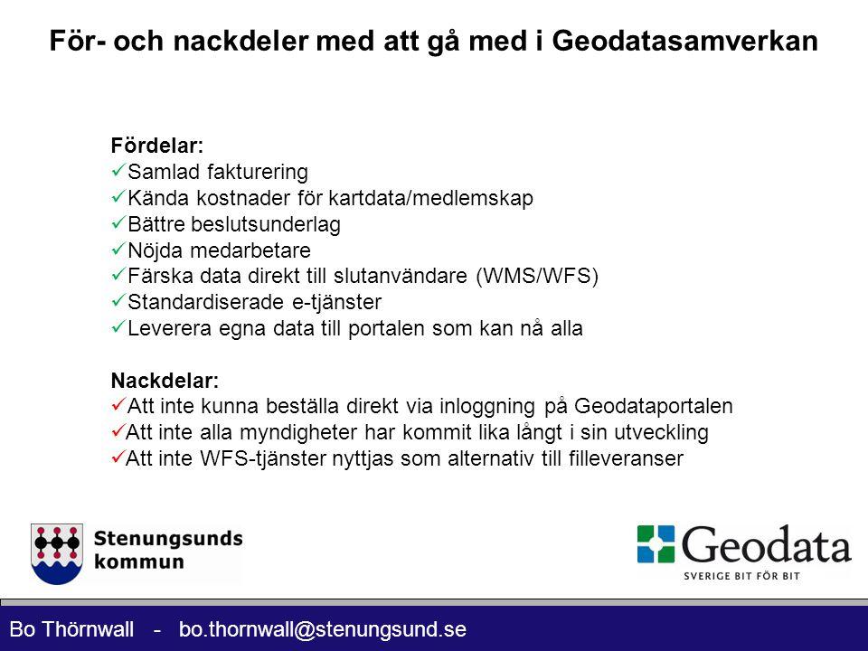 För- och nackdeler med att gå med i Geodatasamverkan