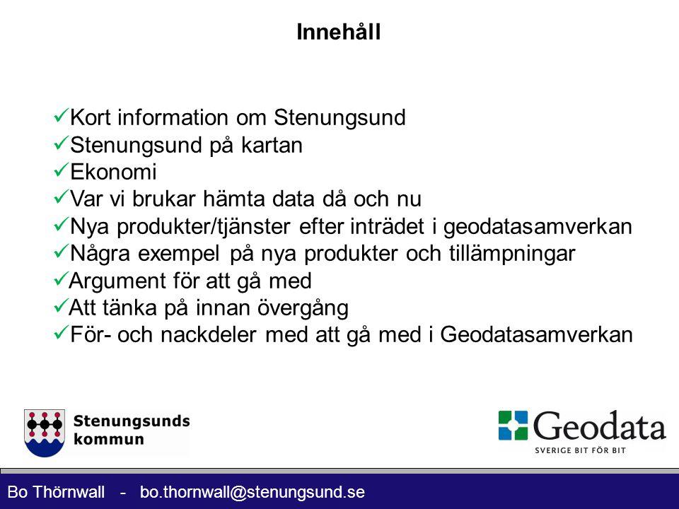 Innehåll Kort information om Stenungsund. Stenungsund på kartan. Ekonomi. Var vi brukar hämta data då och nu.