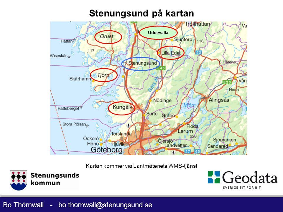 Kartan kommer via Lantmäteriets WMS-tjänst
