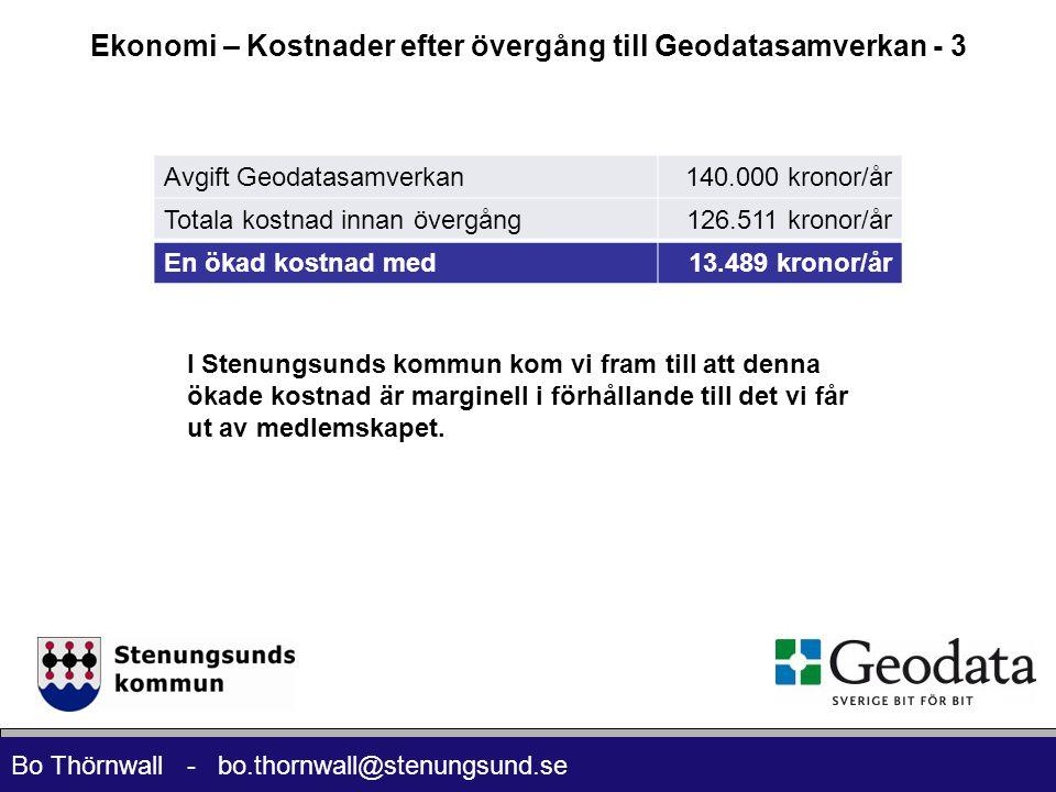 Ekonomi – Kostnader efter övergång till Geodatasamverkan - 3