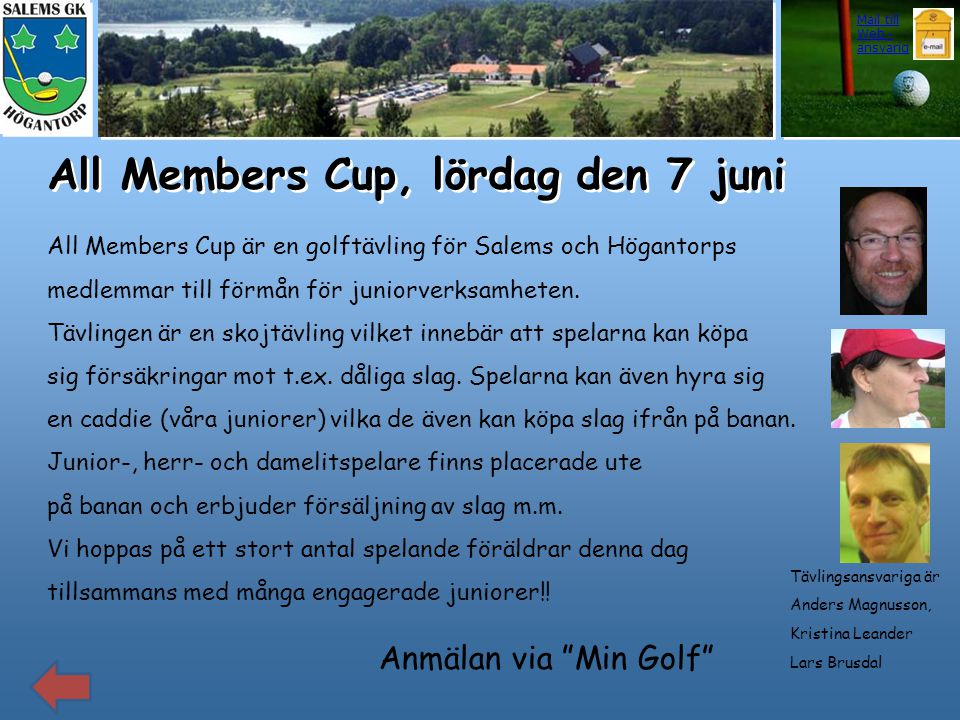 All Members Cup, lördag den 7 juni