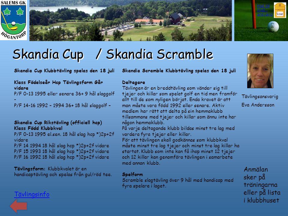 Skandia Cup / Skandia Scramble