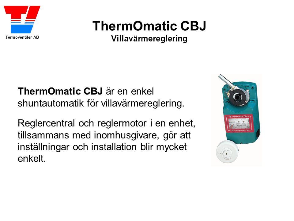 ThermOmatic CBJ är en enkel shuntautomatik för villavärmereglering.