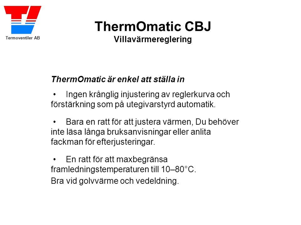 ThermOmatic är enkel att ställa in