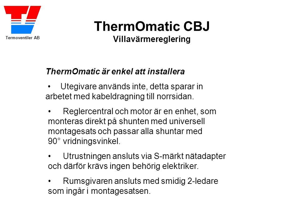ThermOmatic är enkel att installera