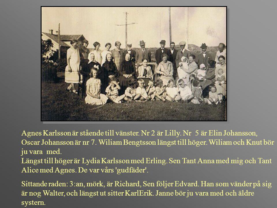 Agnes Karlsson är stående till vänster. Nr 2 är Lilly