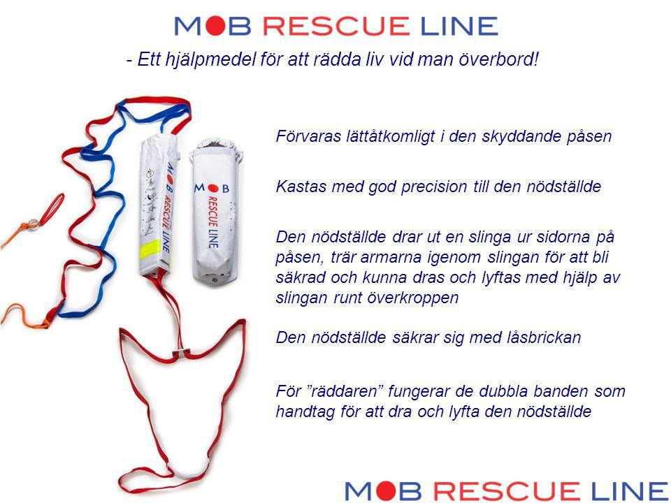 - Ett hjälpmedel för att rädda liv vid man överbord!