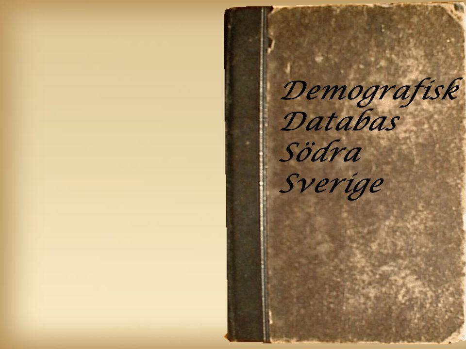Demografisk Databas Södra Sverige