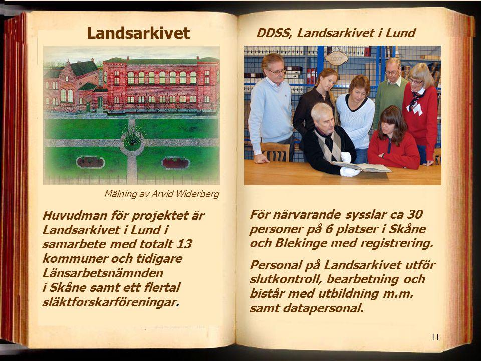 DDSS, Landsarkivet i Lund